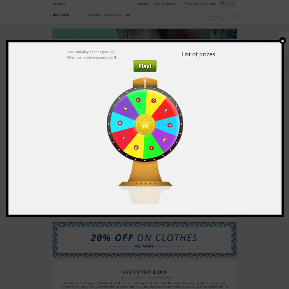 module - Konkursy - Koło fortuny, rabaty i prezenty dla klientów - 4