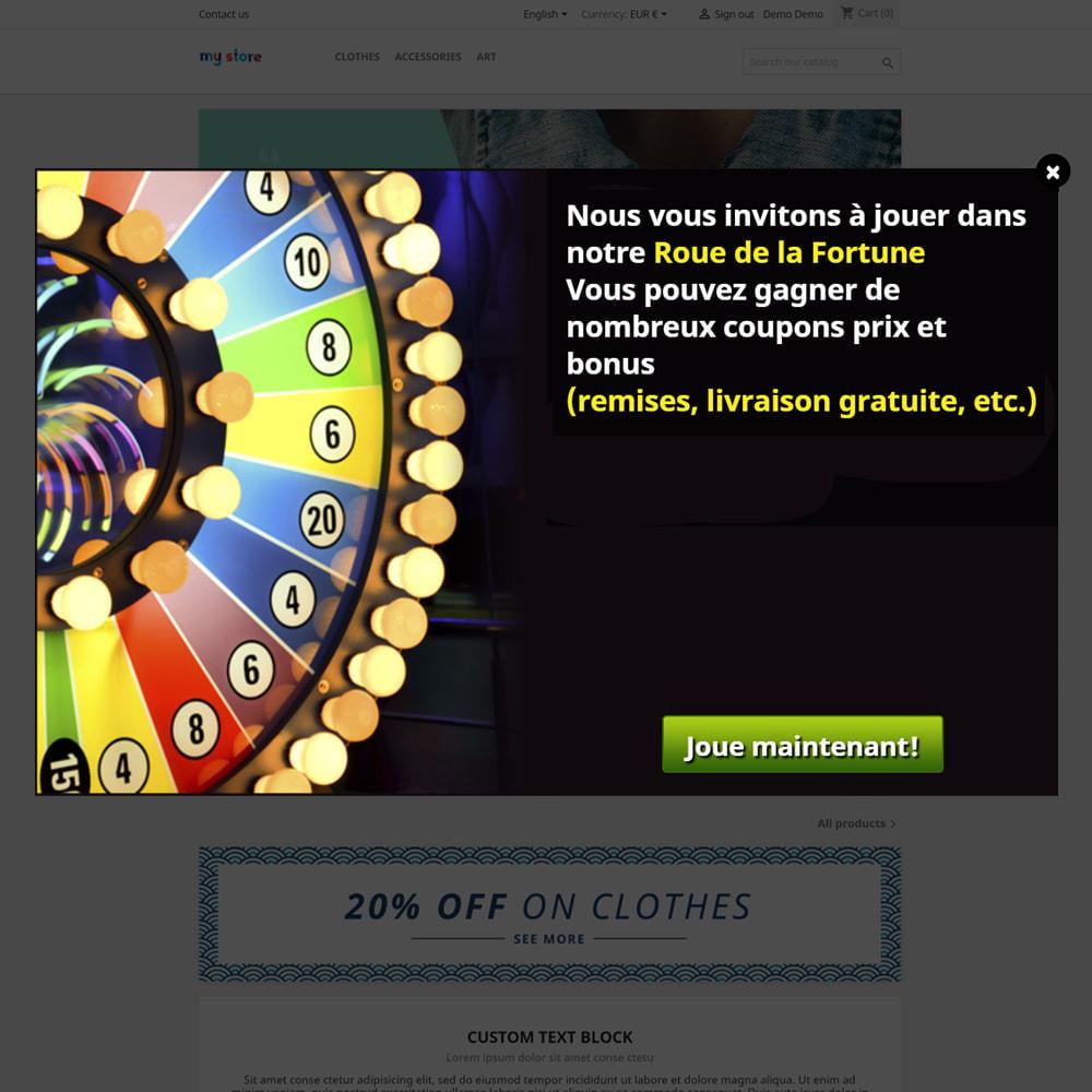 module - Jeux-concours - Roue de la Fortune, remises et cadeaux aux clients - 2