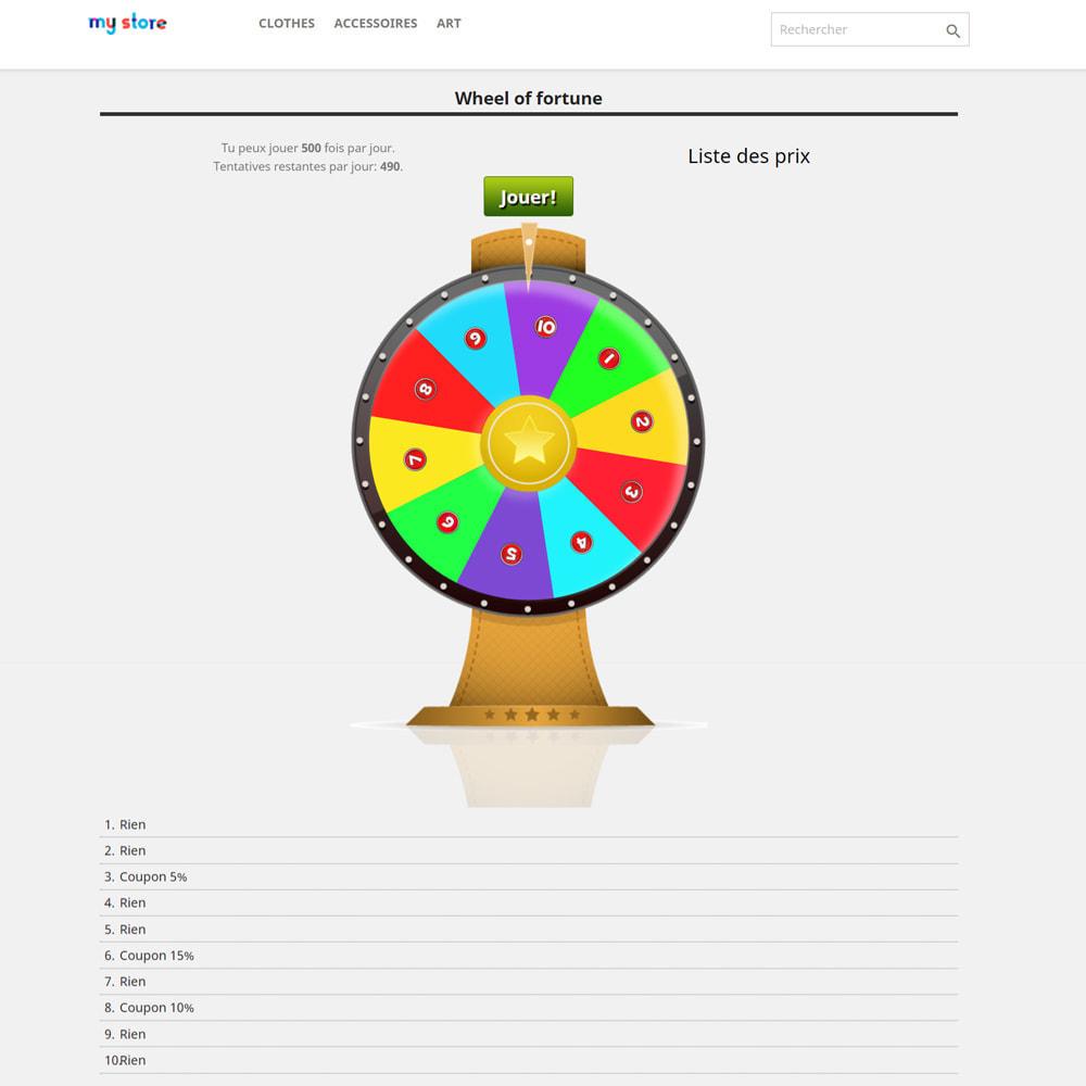 module - Jeux-concours - Roue de la Fortune, remises et cadeaux aux clients - 3
