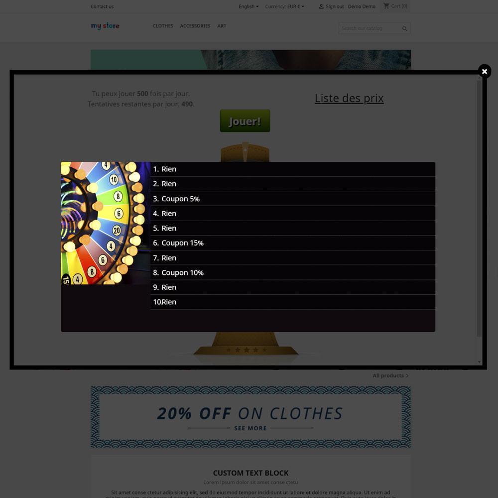 module - Jeux-concours - Roue de la Fortune, remises et cadeaux aux clients - 5