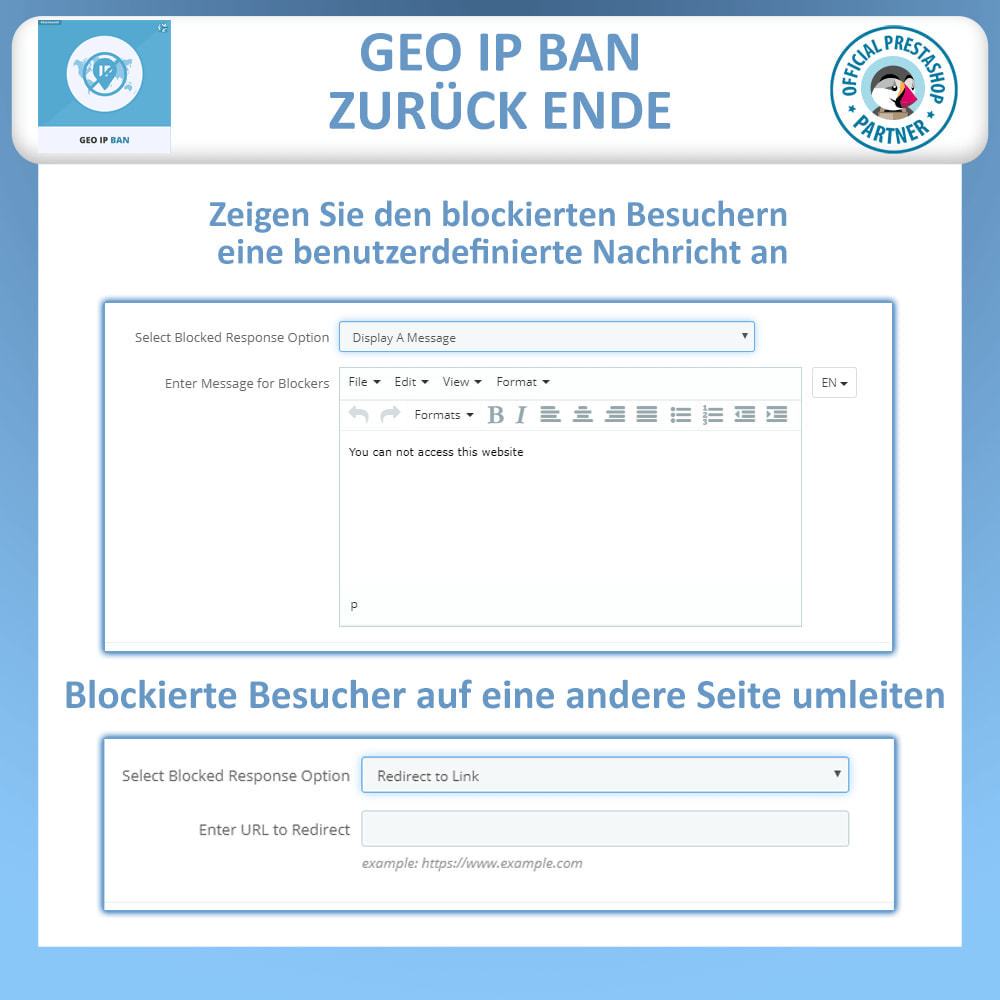 module - Sicherheit & Berechtigungen - Blockieren Sie Bots & Nutzer basierend auf IP oder Land - 3