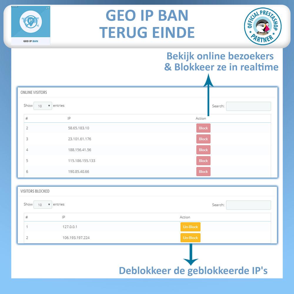 module - Veiligheid & Toegang - Geo IP Verbod - Blokkeer Robots en Gebruikers - 4