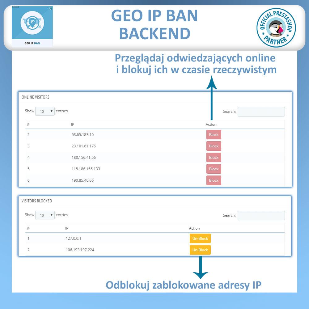 module - Bezpieczeństwa & Dostępu - Blokuj boty i użytkowników w oparciu IP lub kraj - 4