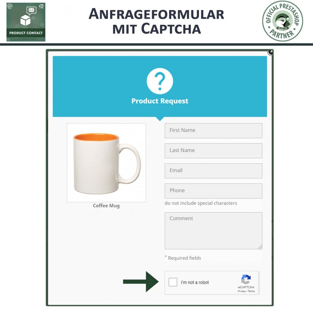 module - Kontaktformular & Umfragen - Produkt Kontakt - Anfrageformular - 2