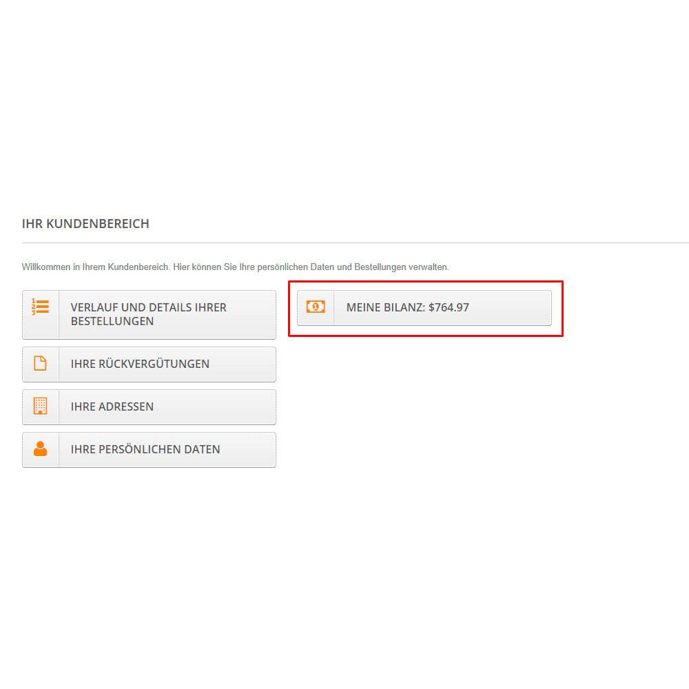 module - Zahlung per Kreditkarte oder Wallet - Interner Benutzerbilanz UserBalance - 9