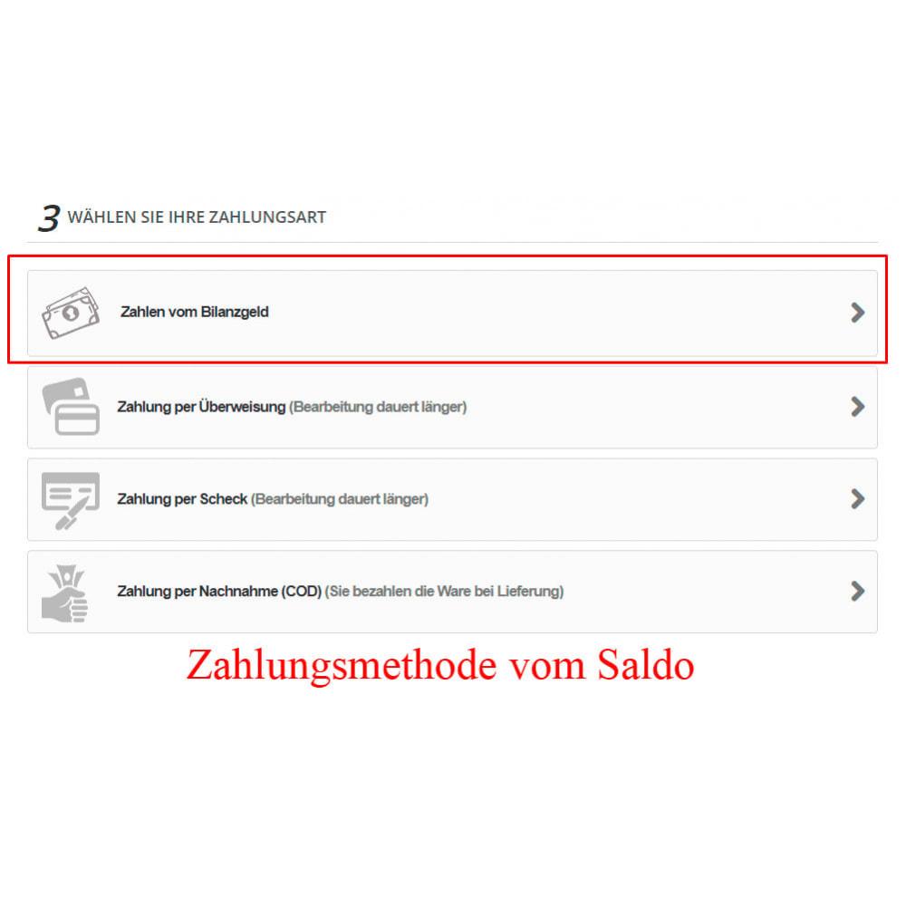 module - Zahlung per Kreditkarte oder Wallet - Interner Benutzerbilanz UserBalance - 13