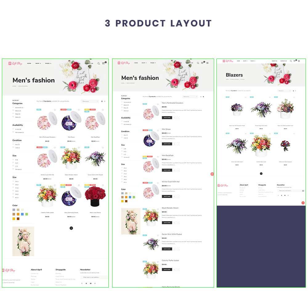 theme - Prezenty, Kwiaty & Uroczystości - Flower Store eCommerce Bootstrap 4 - 3