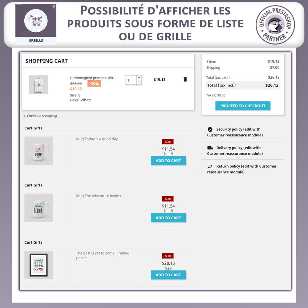 module - Ventes croisées & Packs de produits - Produits Incitatifs - Chariot à Pousser - 8