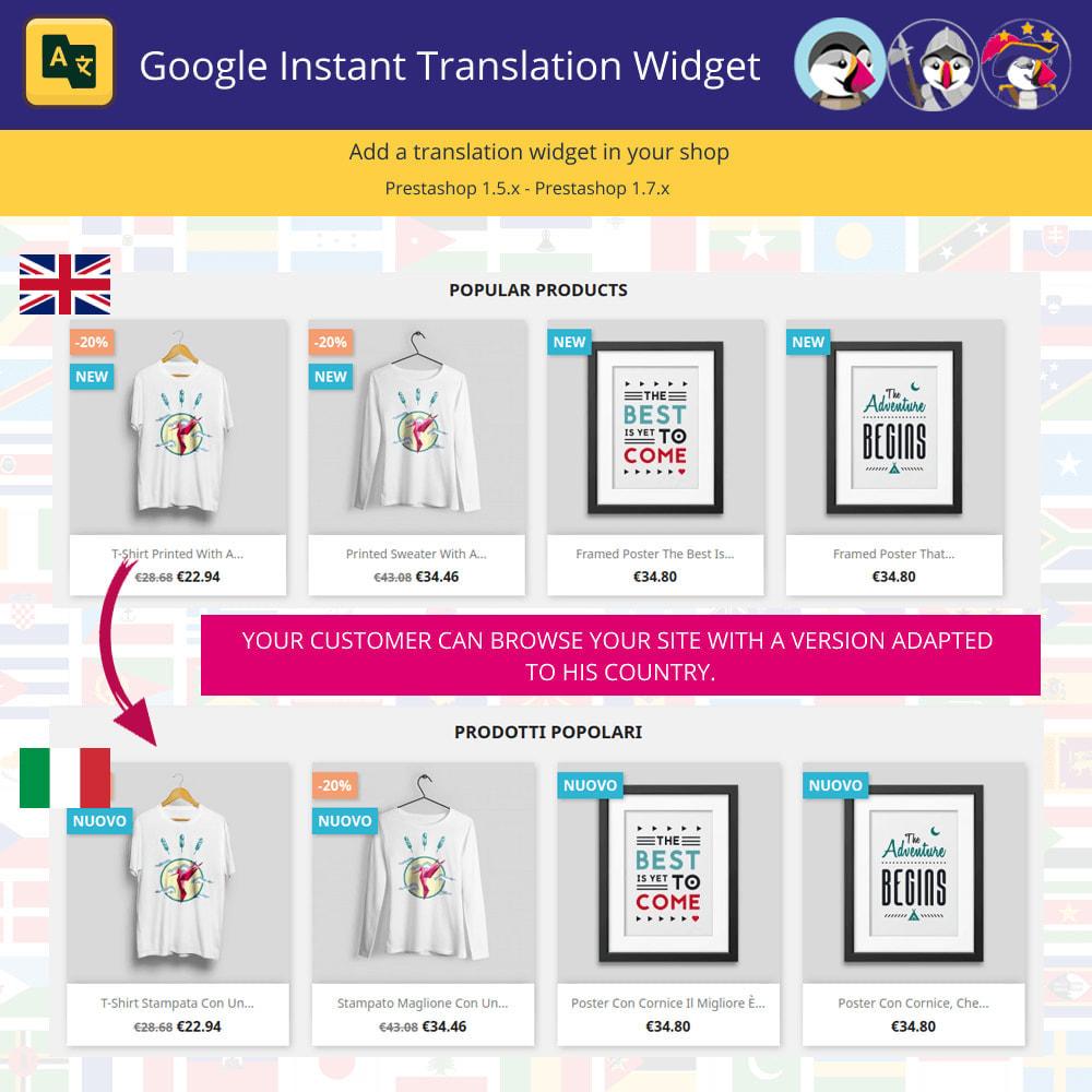 module - International & Localization - Instant Google Translation Widget - 1
