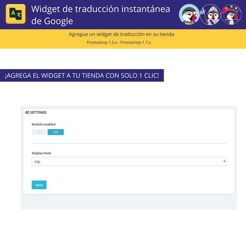 module - Internacionalización y Localización - Widget de traducción instantánea de Google - 2