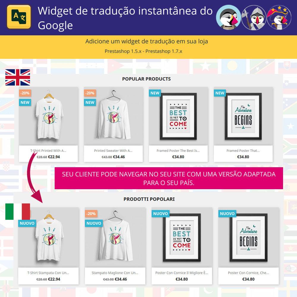 module - Internacional & Localização - Widget de tradução instantânea do Google - 1