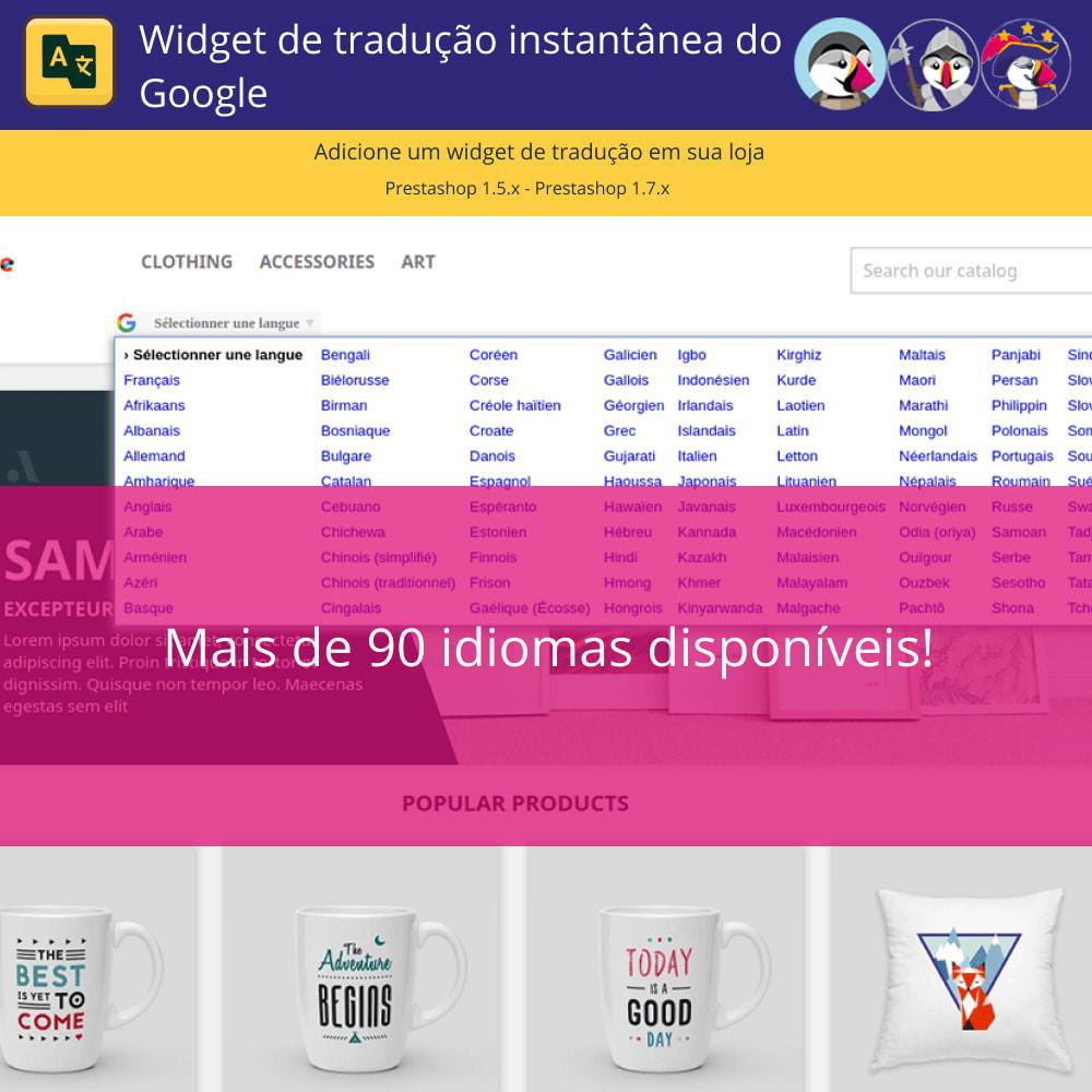 module - Internacional & Localização - Widget de tradução instantânea do Google - 3