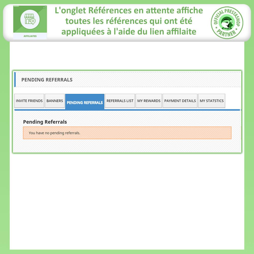 module - Référencement payant (SEA SEM) & Affiliation - Affiliés, Gestion de programme d'affiliation anticipée - 6