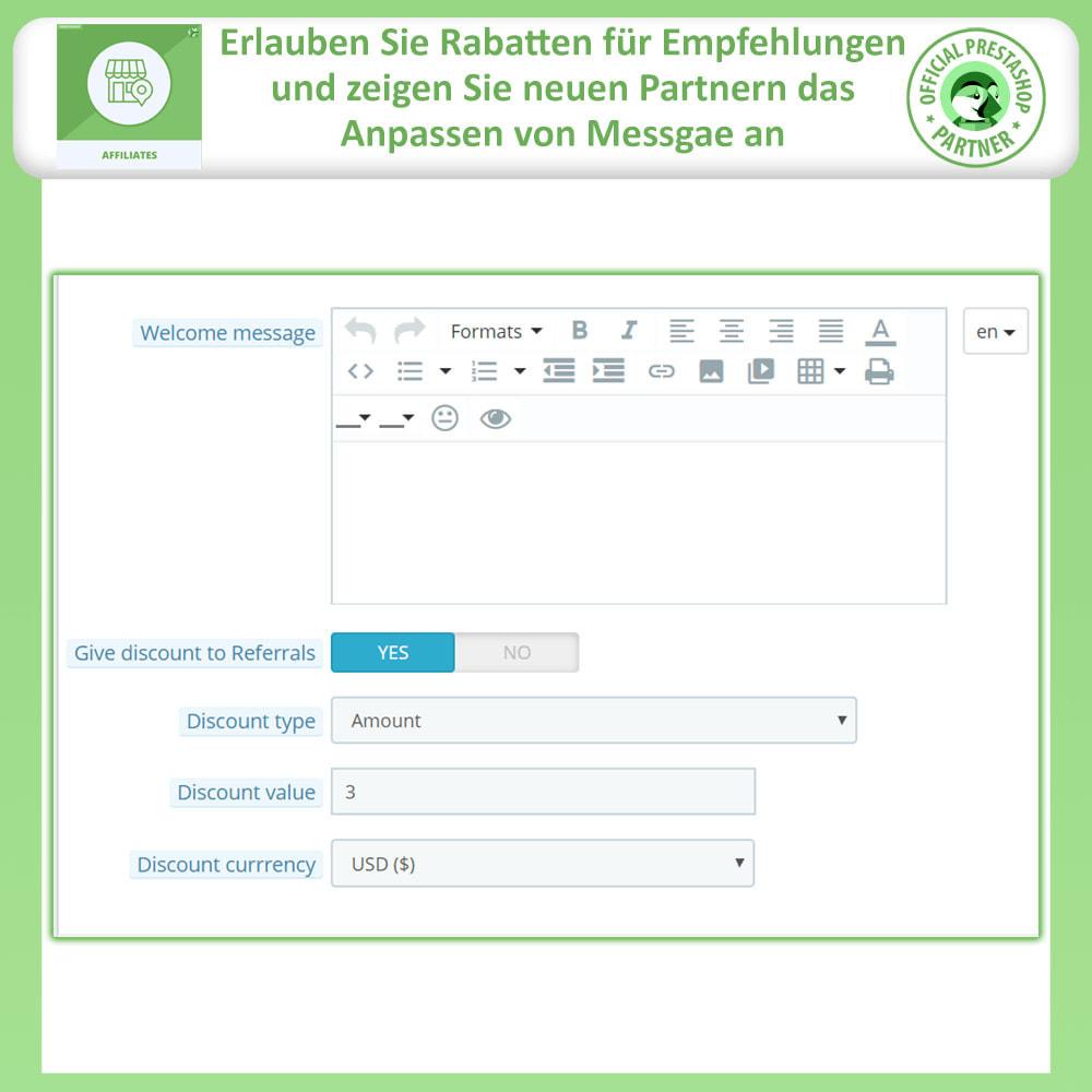module - SEM SEA - Posicionamiento patrocinado & Afiliación - Programa de afiliados Pro, afiliados y referencias - 12
