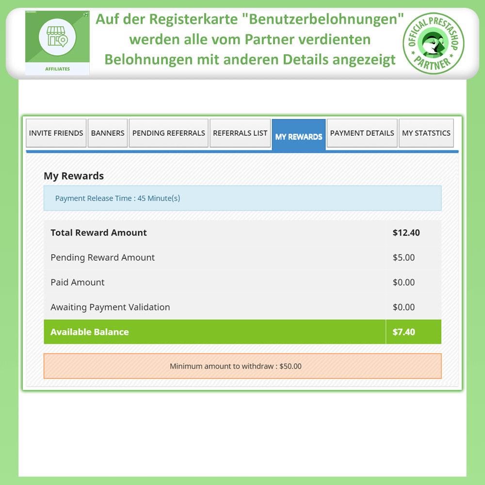module - SEA SEM (Bezahlte Werbung) & Affiliate Plattformen - Affiliates Pro, Partner- und Empfehlungsprogramm - 7