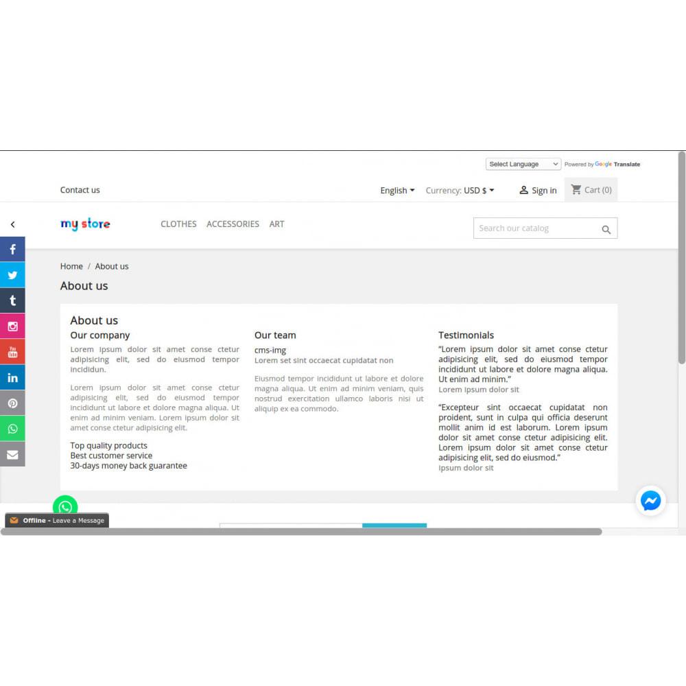 module - Widgets para redes sociales - Enlaces a la barra lateral de redes sociales - 8