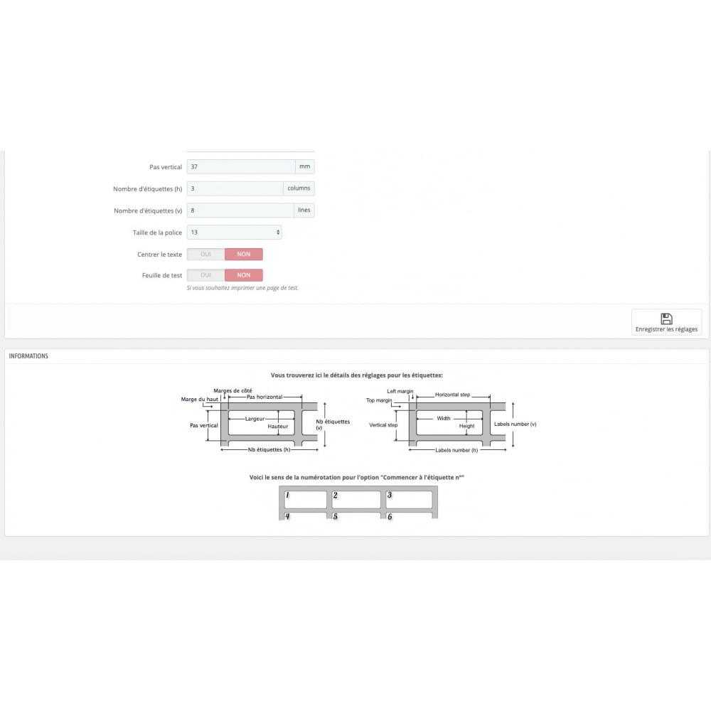 module - Préparation & Expédition - Impression étiquettes expédition + Mise à jour statuts - 4