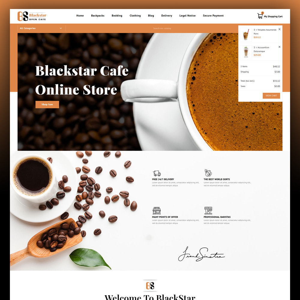 theme - Bebidas & Tabaco - Blackstar - Coffee Store - 3