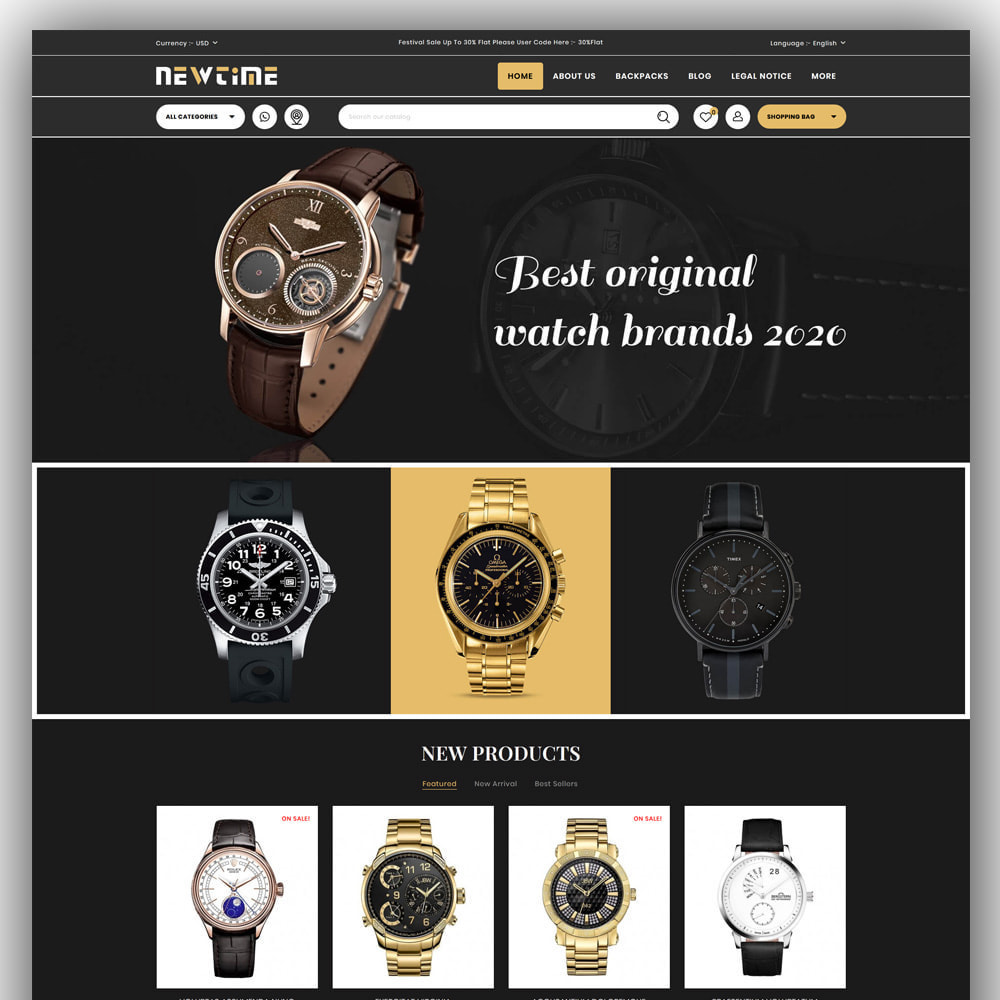 theme - Bellezza & Gioielli - Newtime - Watch Store - 2