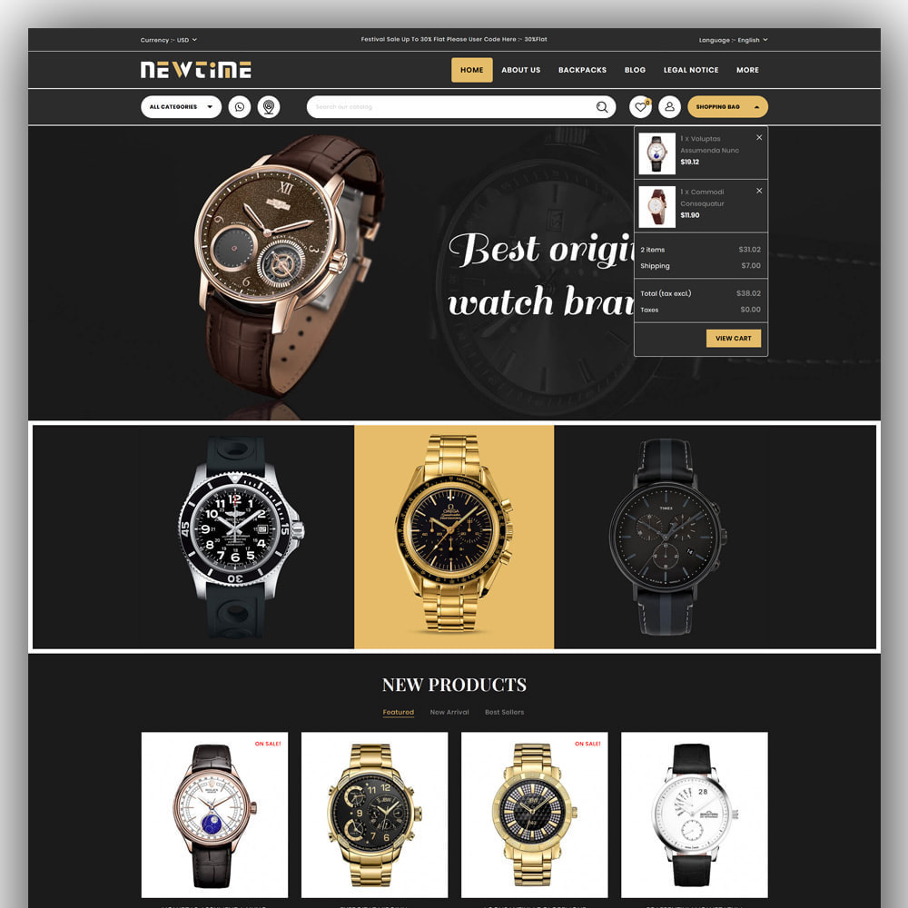 theme - Bellezza & Gioielli - Newtime - Watch Store - 3