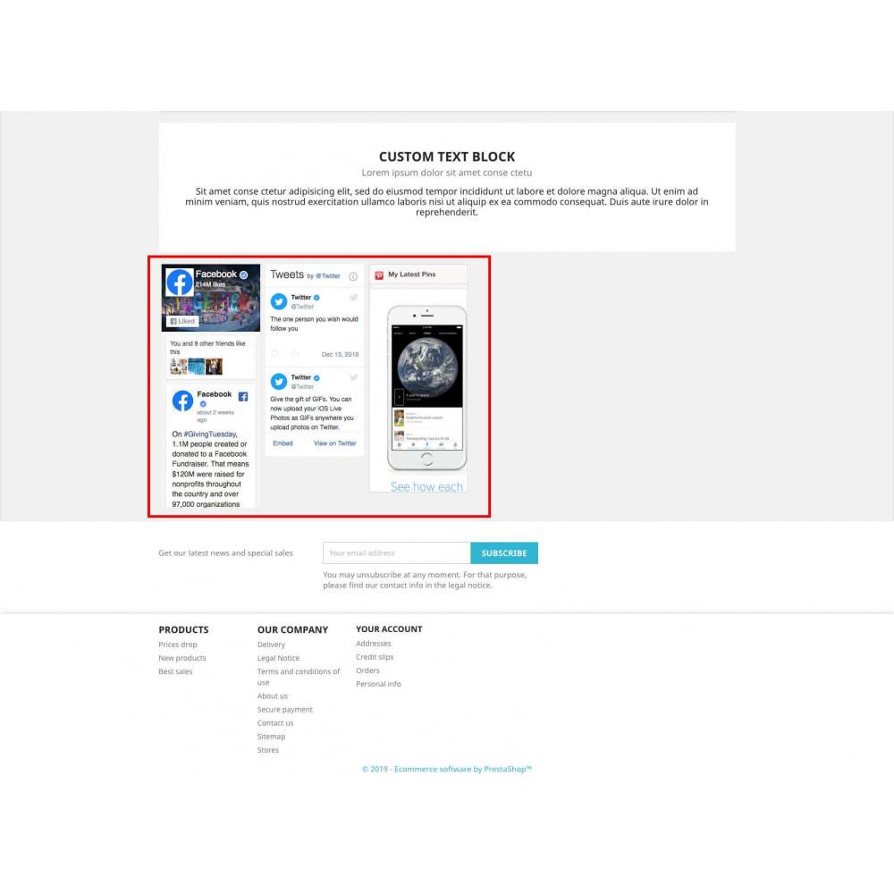 module - Widgets réseaux sociaux - Social Widgets + Boutons (3 en 1) - 6