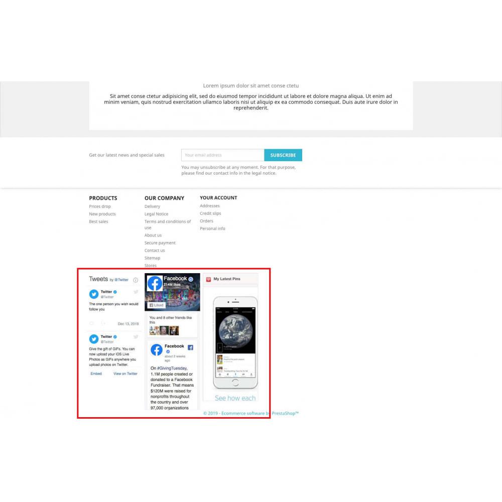 module - Widgets réseaux sociaux - Social Widgets + Boutons (3 en 1) - 7