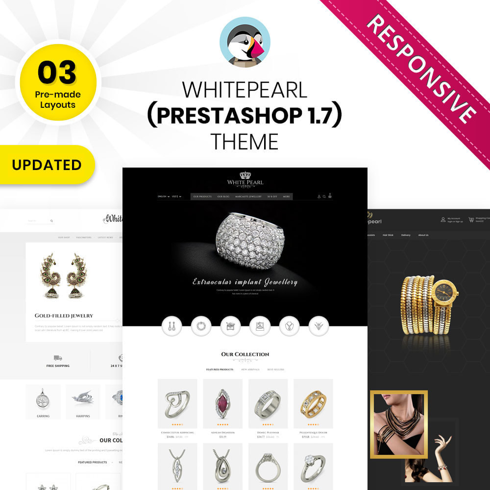 theme - Jewelry & Accessories - Whitepearl - The Jewellery Shop - 1