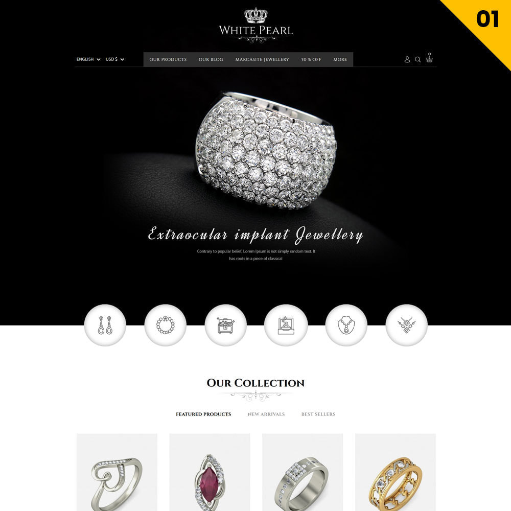 theme - Jewelry & Accessories - Whitepearl - The Jewellery Shop - 3