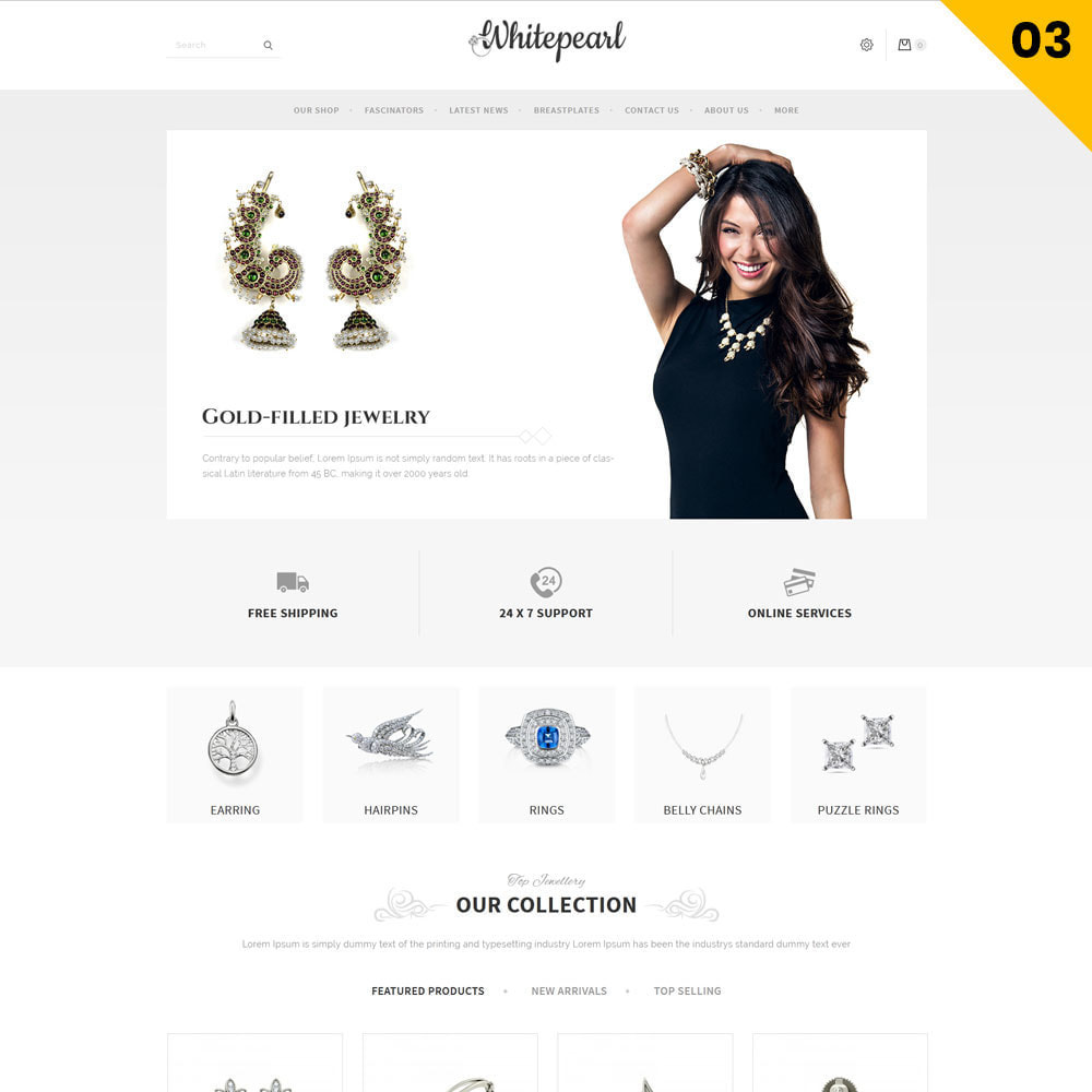 theme - Jewelry & Accessories - Whitepearl - The Jewellery Shop - 5