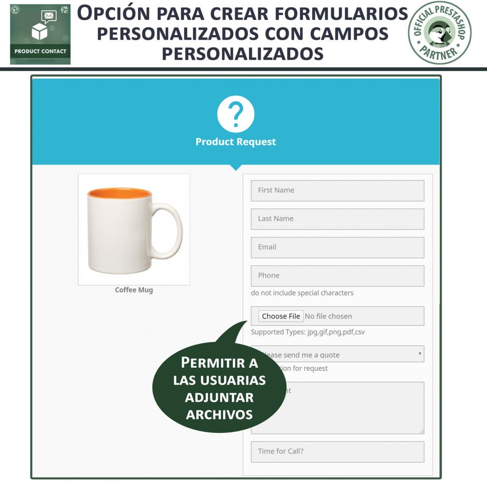 module - Formulario de contacto y Sondeos - Contacto del producto - Formulario de solicitud - 7