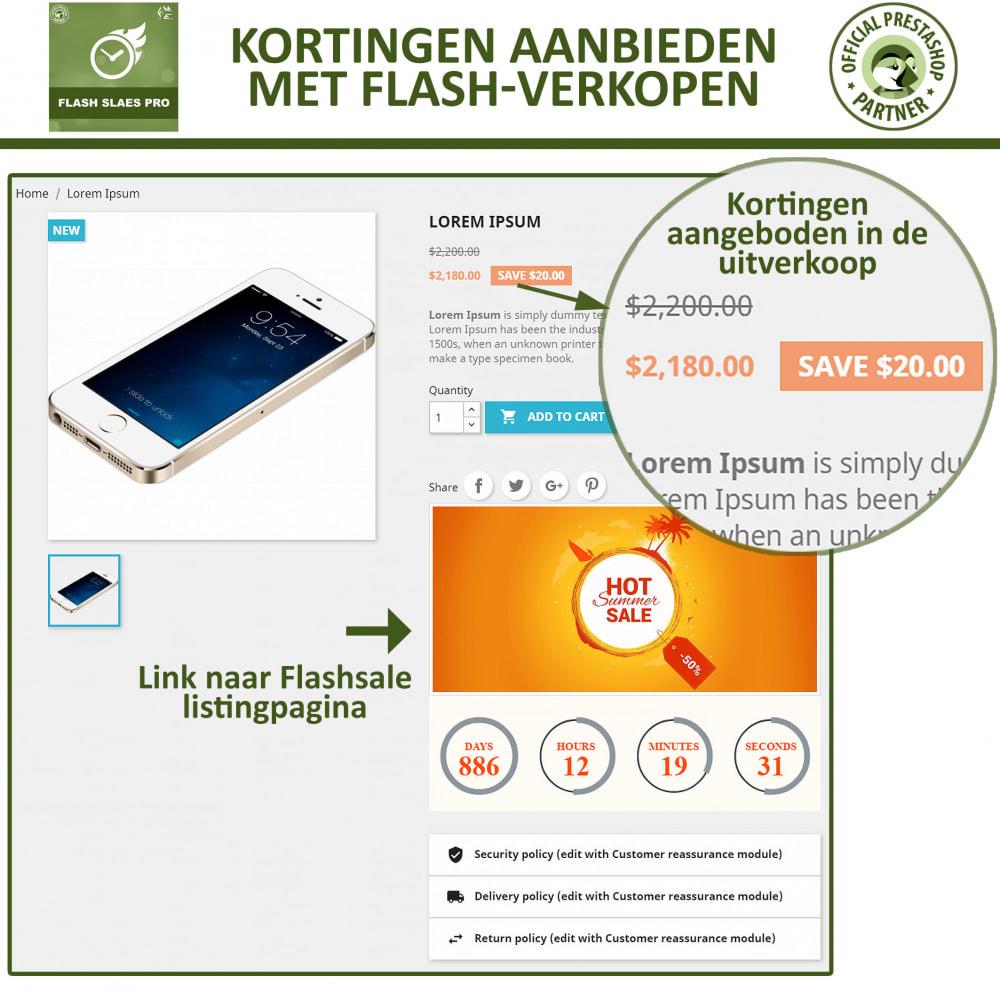module - Uitverkoop & Besloten verkoop - Flash Sales Pro - Korting met een Aftel Timer - 5