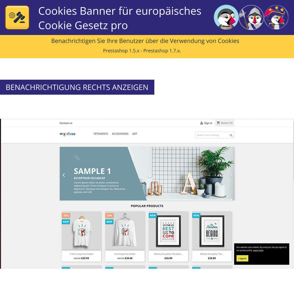 module - Rechtssicherheit - Pro Cookies Banner für das europäische Cookie-Gesetz - 3