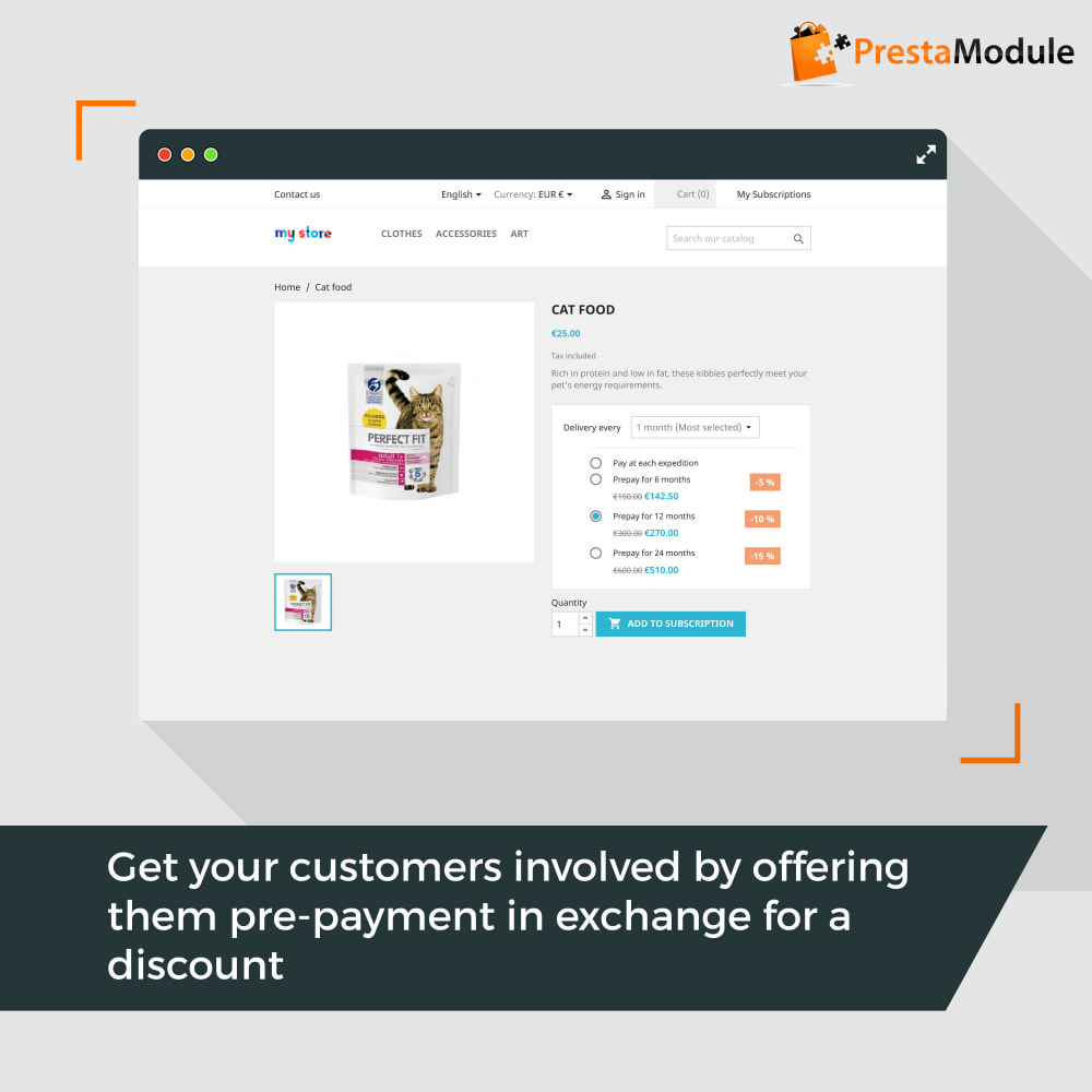 module - Abbonamenti (subscription box) - Advanced Subscription with automatic recurring payments - 3
