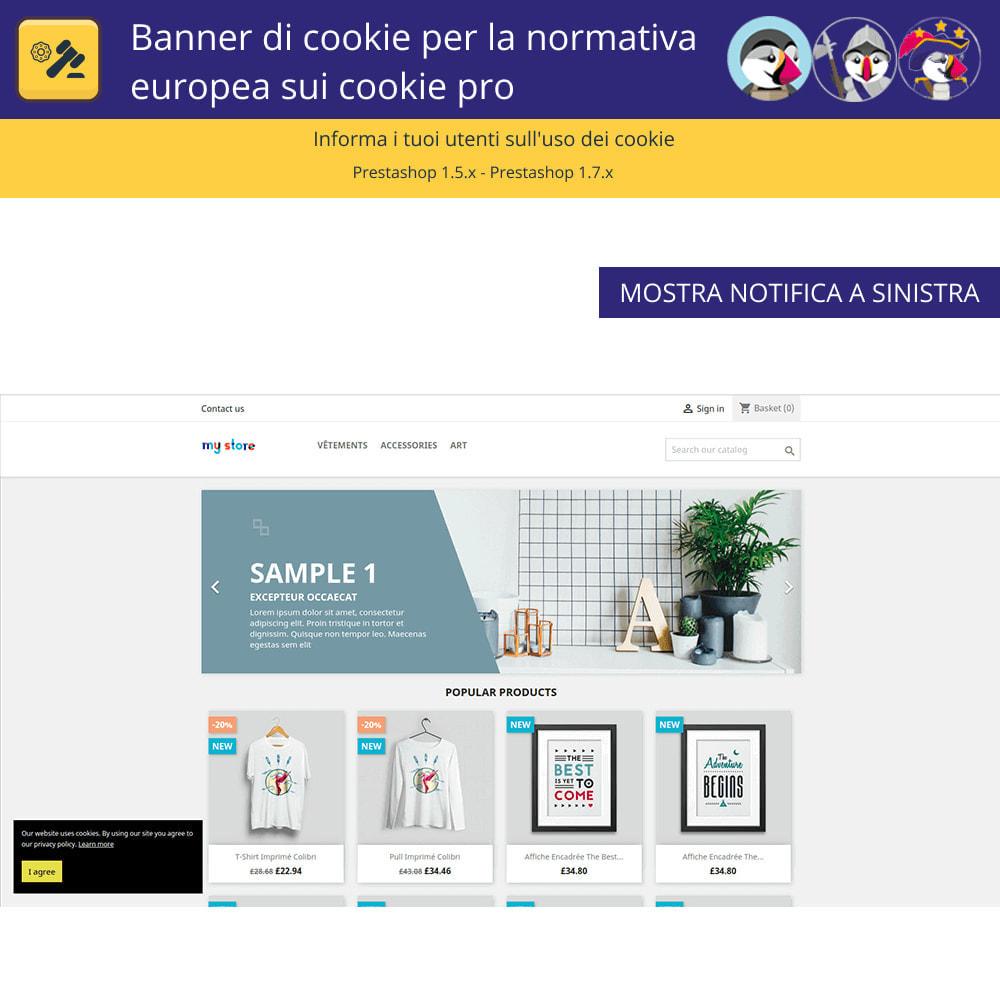 module - Legale (Legge Europea) - Banner Pro Cookies per la legge europea sui cookie - 2