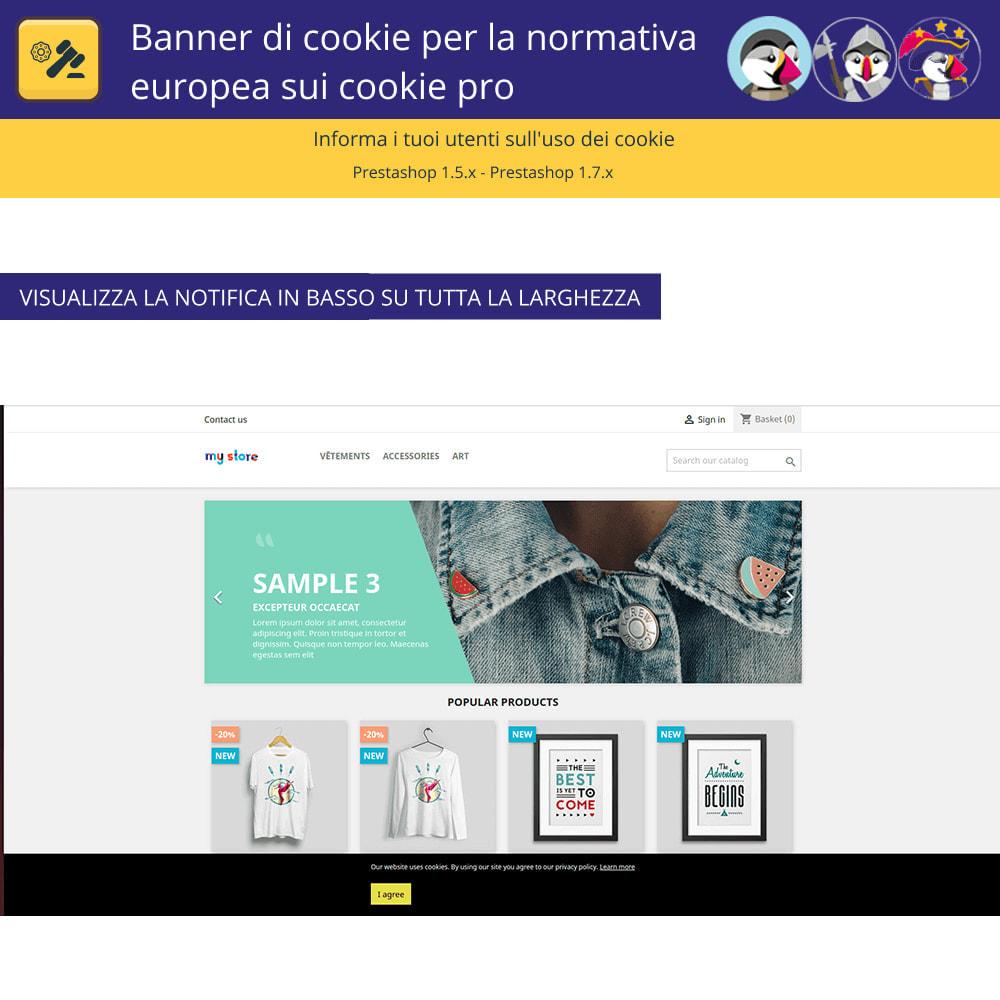 module - Legale (Legge Europea) - Banner Pro Cookies per la legge europea sui cookie - 4