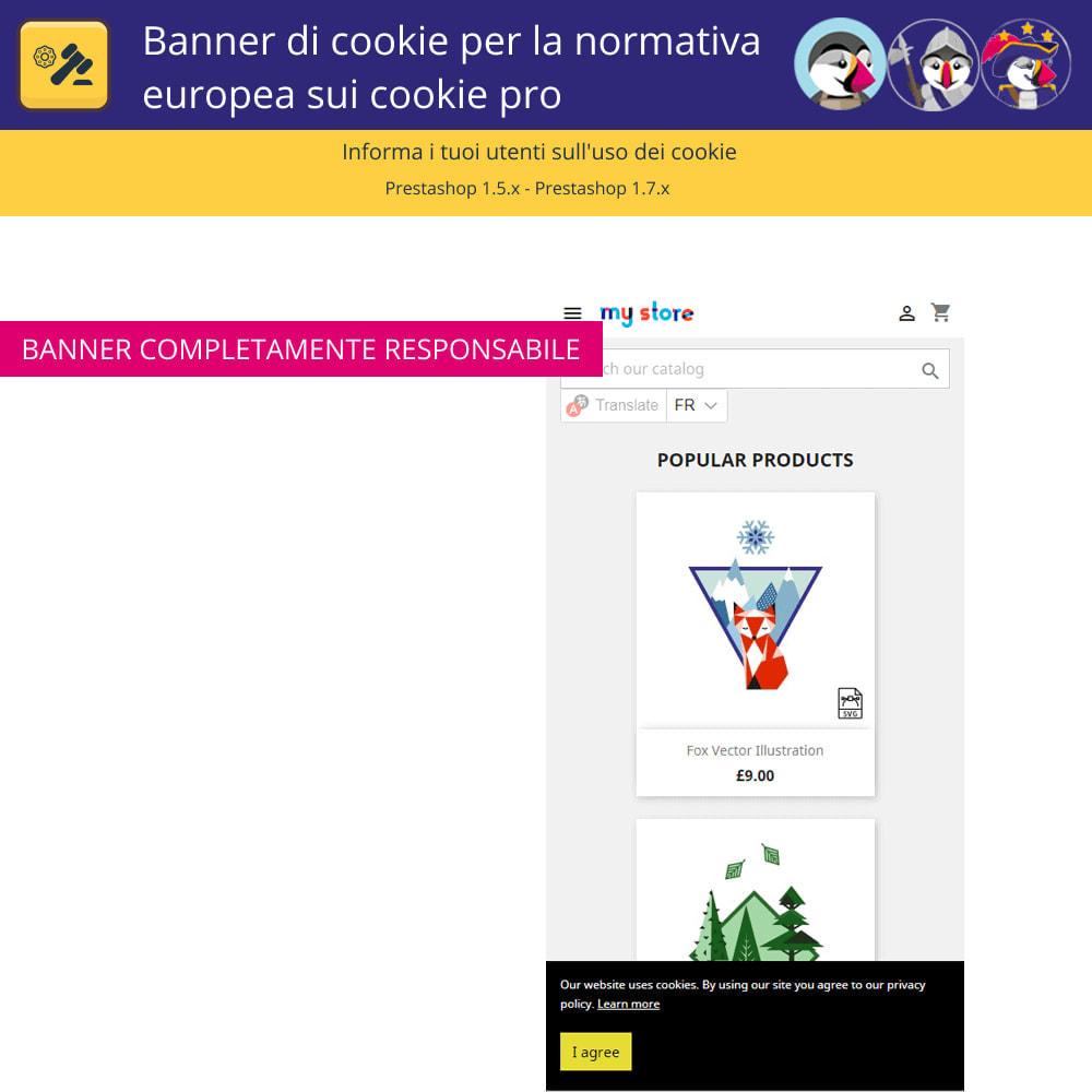 module - Legale (Legge Europea) - Banner Pro Cookies per la legge europea sui cookie - 5