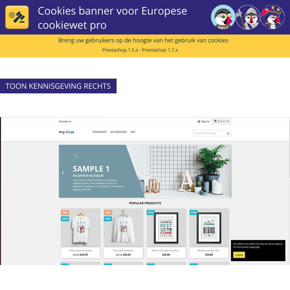 module - Juridisch - Cookiesbanner voor Europese wetgeving - 3
