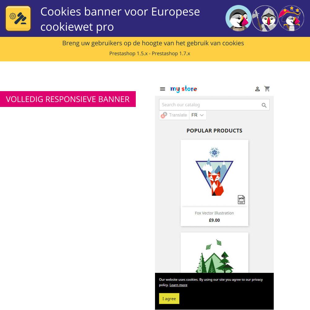 module - Juridisch - Cookiesbanner voor Europese wetgeving - 5
