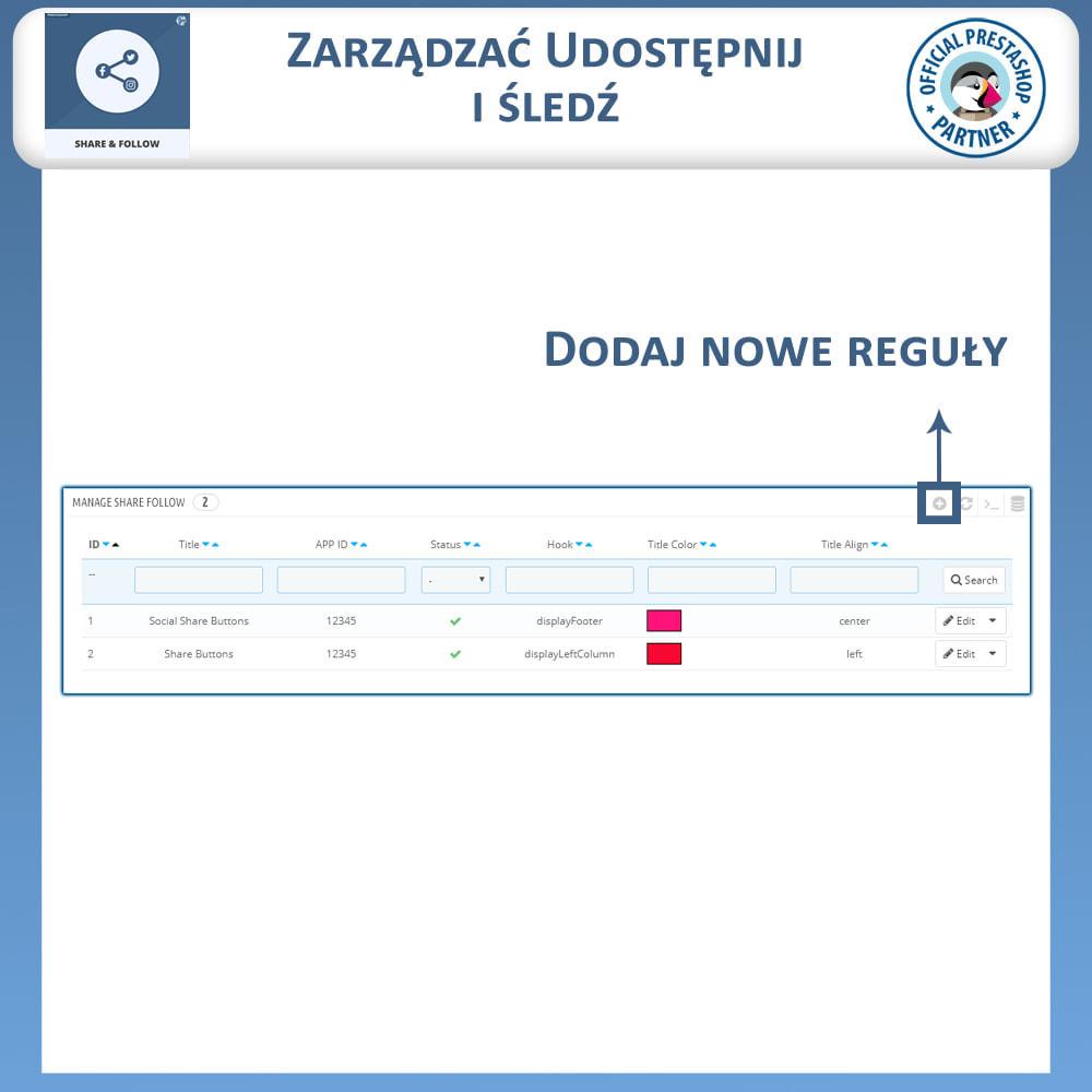 module - Przyciski udostępniania & Komentarze - Udostępnij i śledź - Widget Społecznościowy - 8