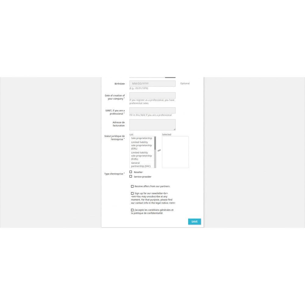 module - Registratie en Proces van bestellingen - Customer Registration Field Adder - 3