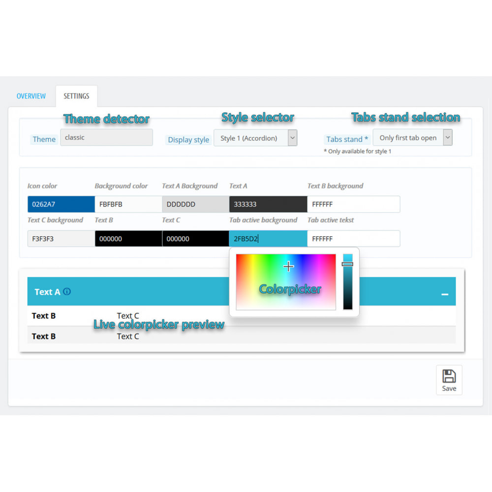 module - Bijkomende Informatie - DataSheet Pro - Product kenmerken - 5