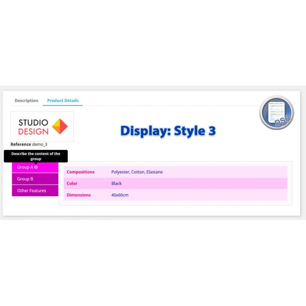 module - Bijkomende Informatie - DataSheet Pro - Product kenmerken - 7