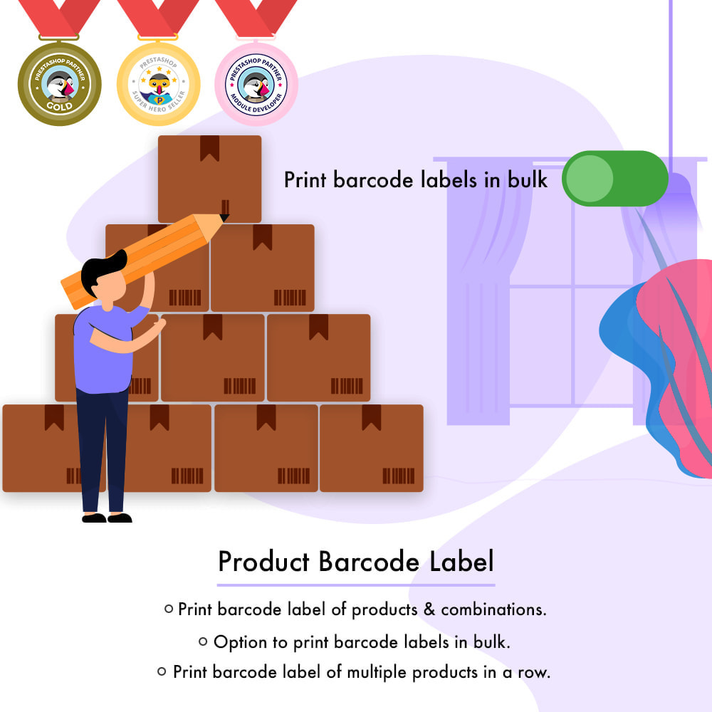 module - Preparation & Shipping - Product Barcode Label | Barcode Generator - 1