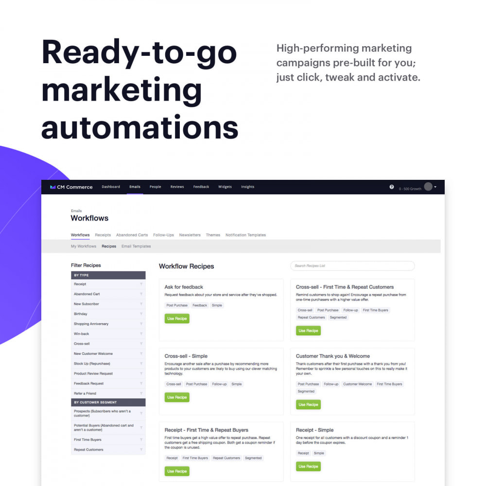 module - Remarketing y Carritos abandonados - Email Marketing with CM Commerce - 2