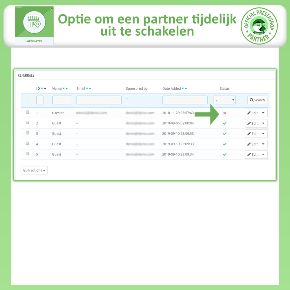module - Betaalde vermelding & Lidmaatschap - Affiliates Pro, Affiliate & Referral Program - 20