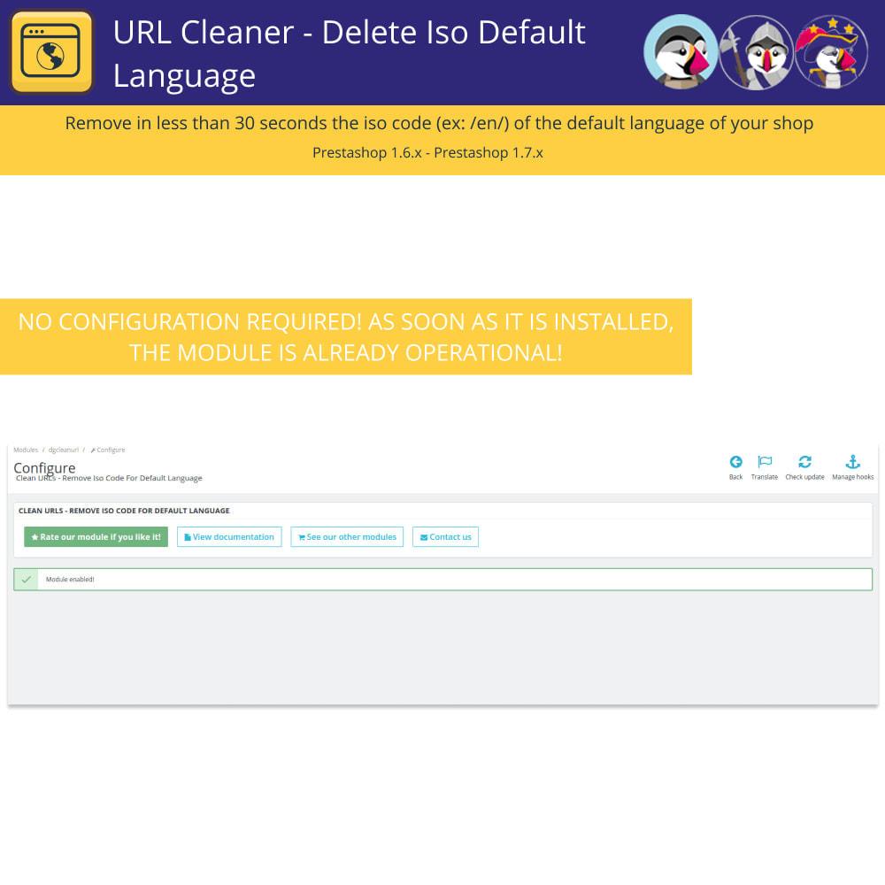 module - URL & Redirections - Nettoyeur D'URL - Supprimer Langue Iso Par Défaut - 3