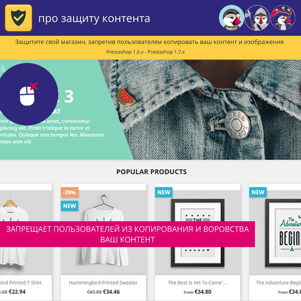 module - Безопасности и доступа - Pro Защита контента - Защитите свой контент - 2