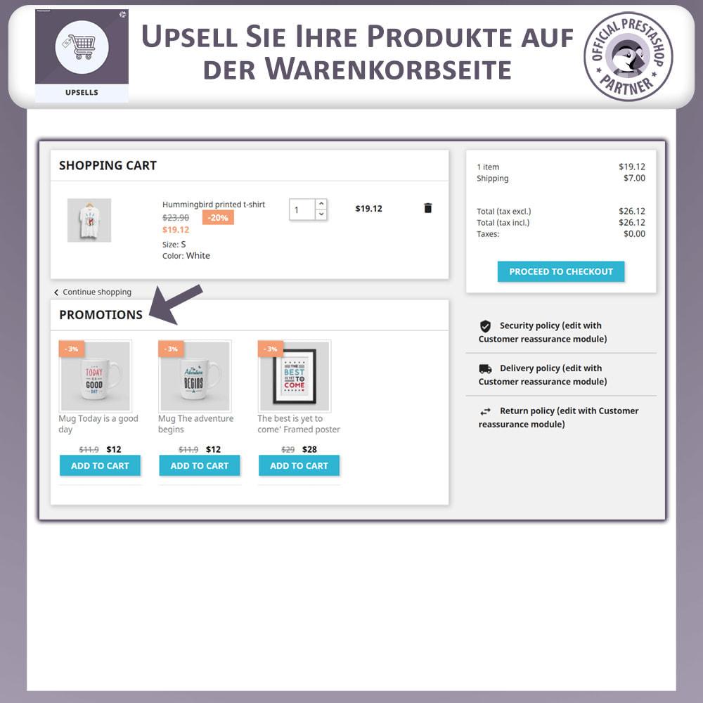 module - Cross-Selling & Produktbundles - Upsell-Produkte - Push on Cart - 2
