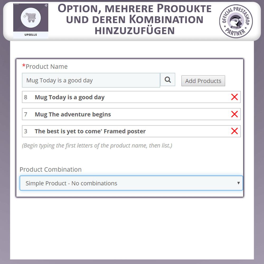 module - Cross-Selling & Produktbundles - Upsell-Produkte - Push on Cart - 3