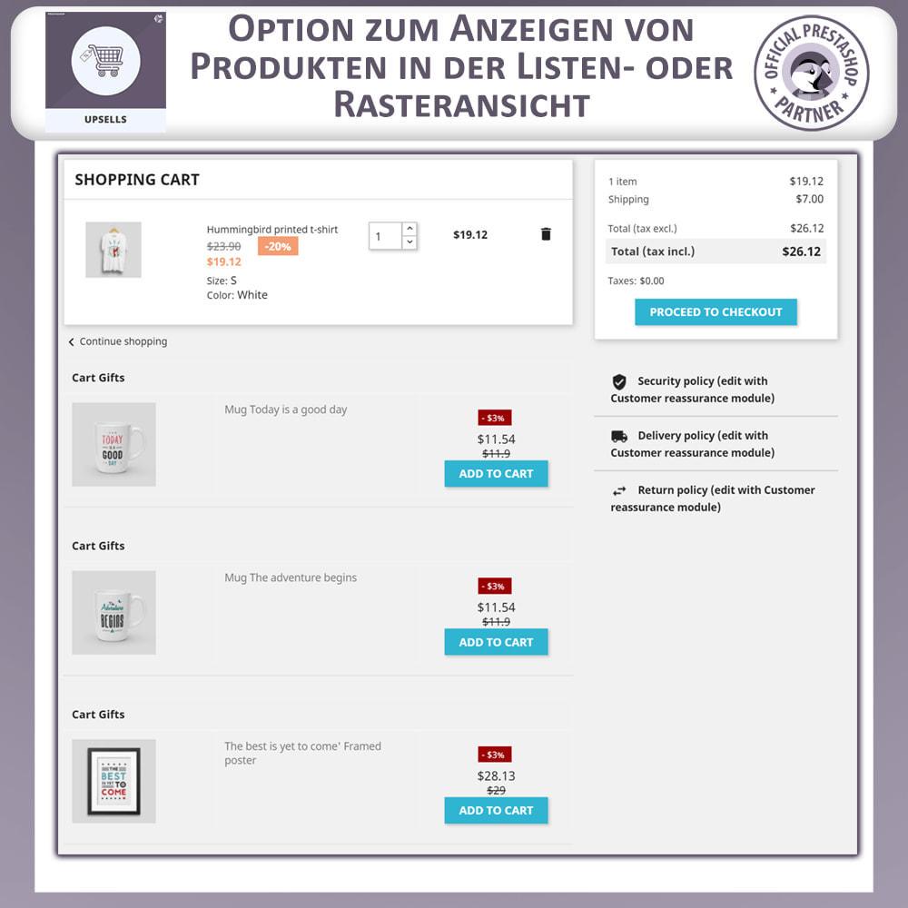 module - Cross-Selling & Produktbundles - Upsell-Produkte - Push on Cart - 5